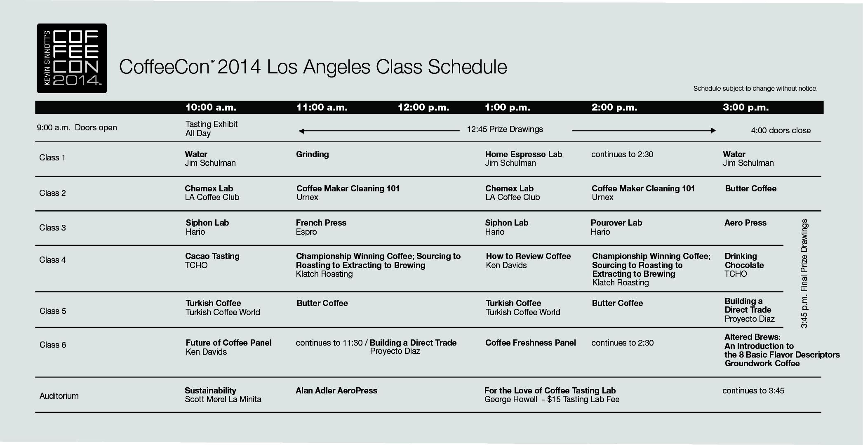 2014 class schedule Presentations / Classes