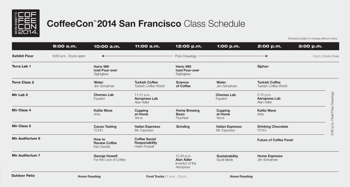 class schedule 2014 sf facebook Presentations / Classes