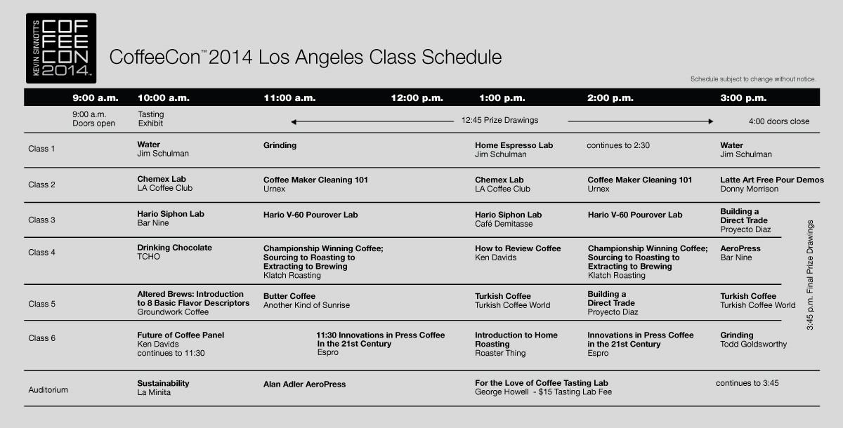 2014 class schedule updated1 e1414639877231 Presentations / Classes
