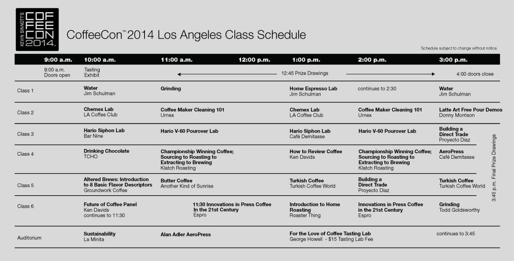 2014 class schedule updated sat 11 1 Presentations / Classes