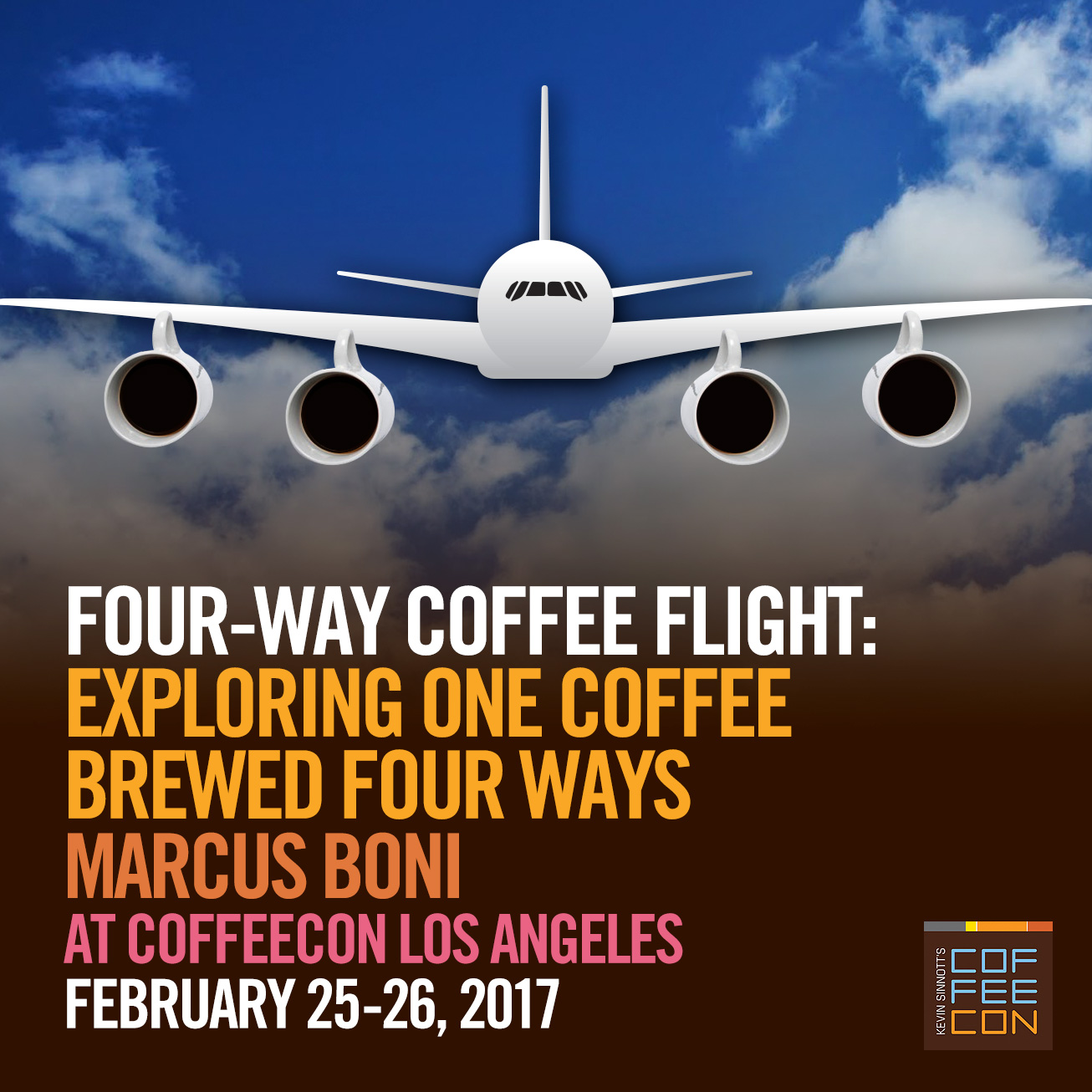 Four-Way Coffee Flight - Exploring one coffee brewed with four different methods at CoffeeConLA 2017