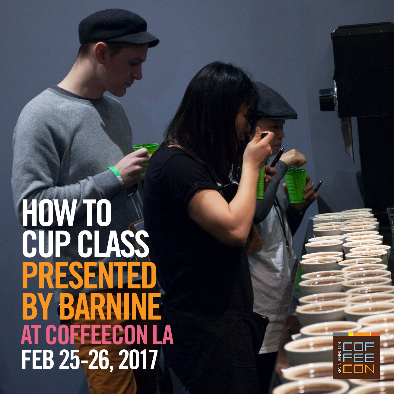 How to Cup Coffee with Barnine at CoffeeConLA 2017