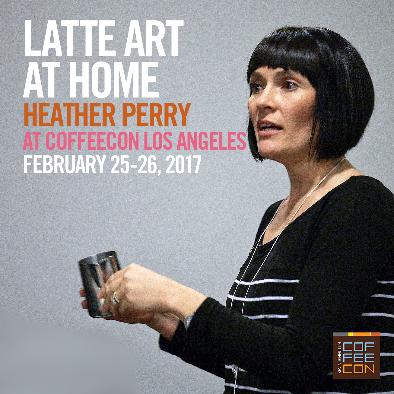 Latte Art with Heather Perry at CoffeeConLA 2017