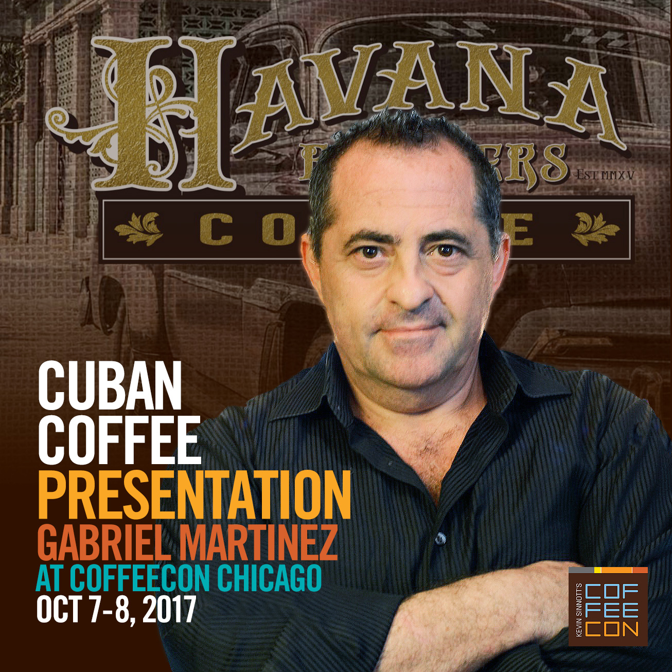 Cuban Coffee Class with Gabriel Martinez at CoffeeConChi 2017