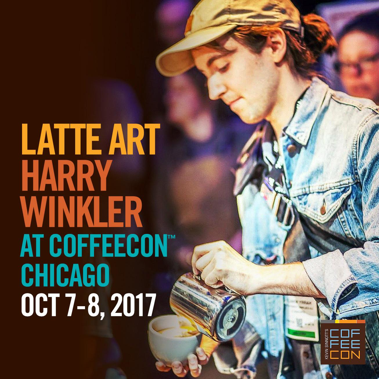 Learn Latte Art with Harry Winkler CoffeeConChicago 2017