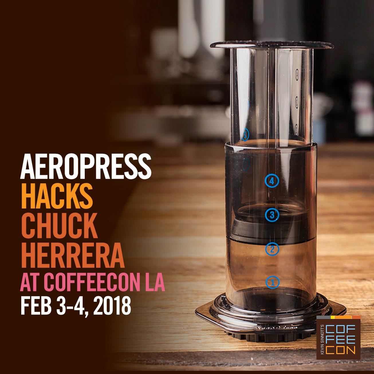 AeroPress Hacks at CoffeeConLA 2018