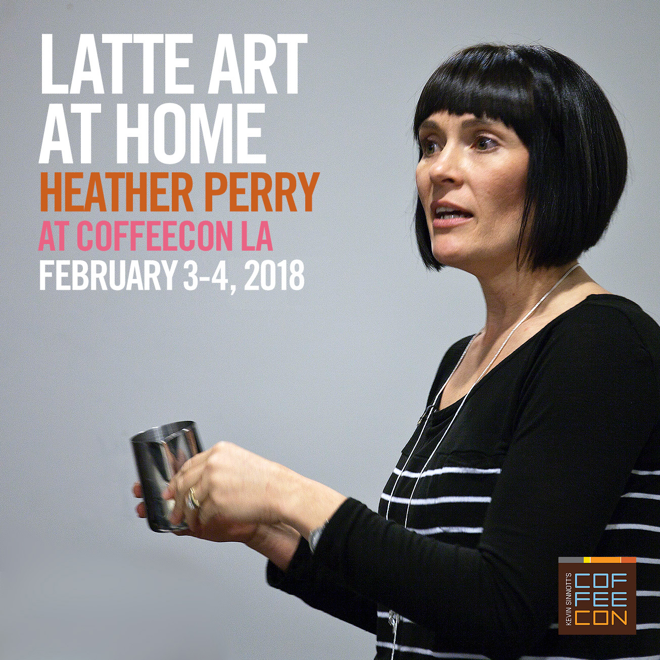 Latte Art with Heather Perry at CoffeeConLA 2018