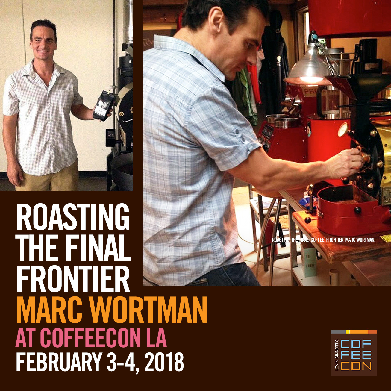 Home Roasting with Marc Wortman at CoffeeConLA 2018