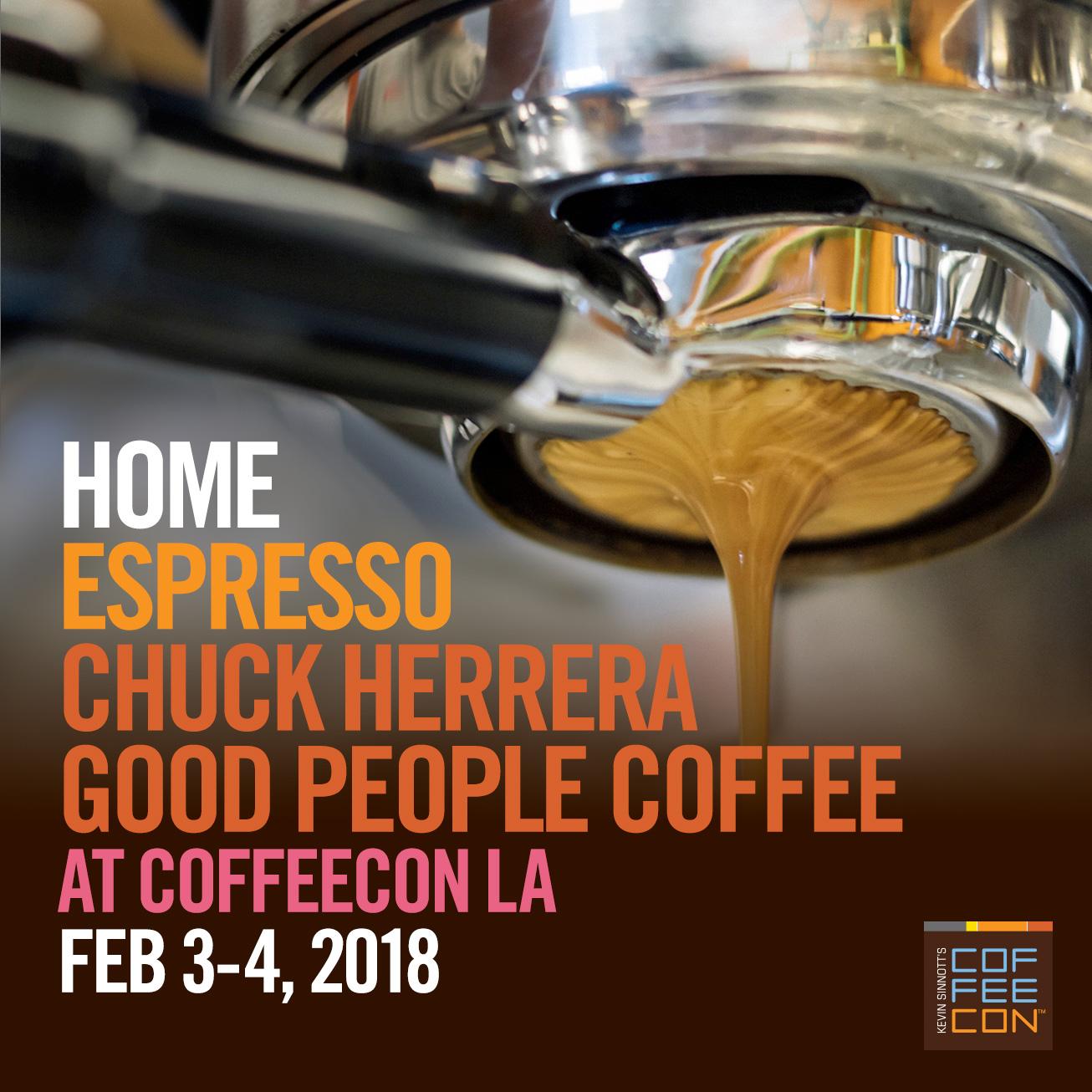 Home Espresso at CoffeeConLA