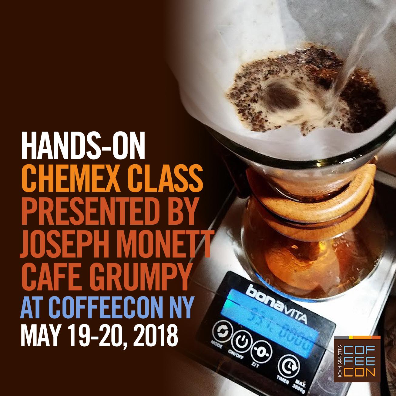 Hands-on Chemex class presented by Joseph Monett