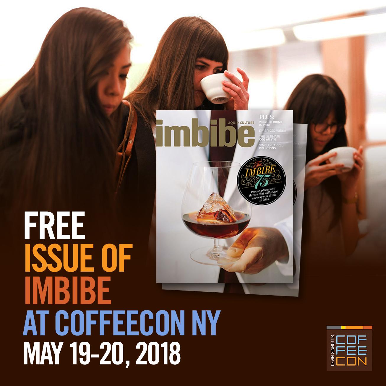 Free Issue of Imbibe Magazine at CoffeeConNY